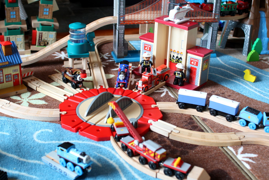 The Perfect Wooden Train Play Rug