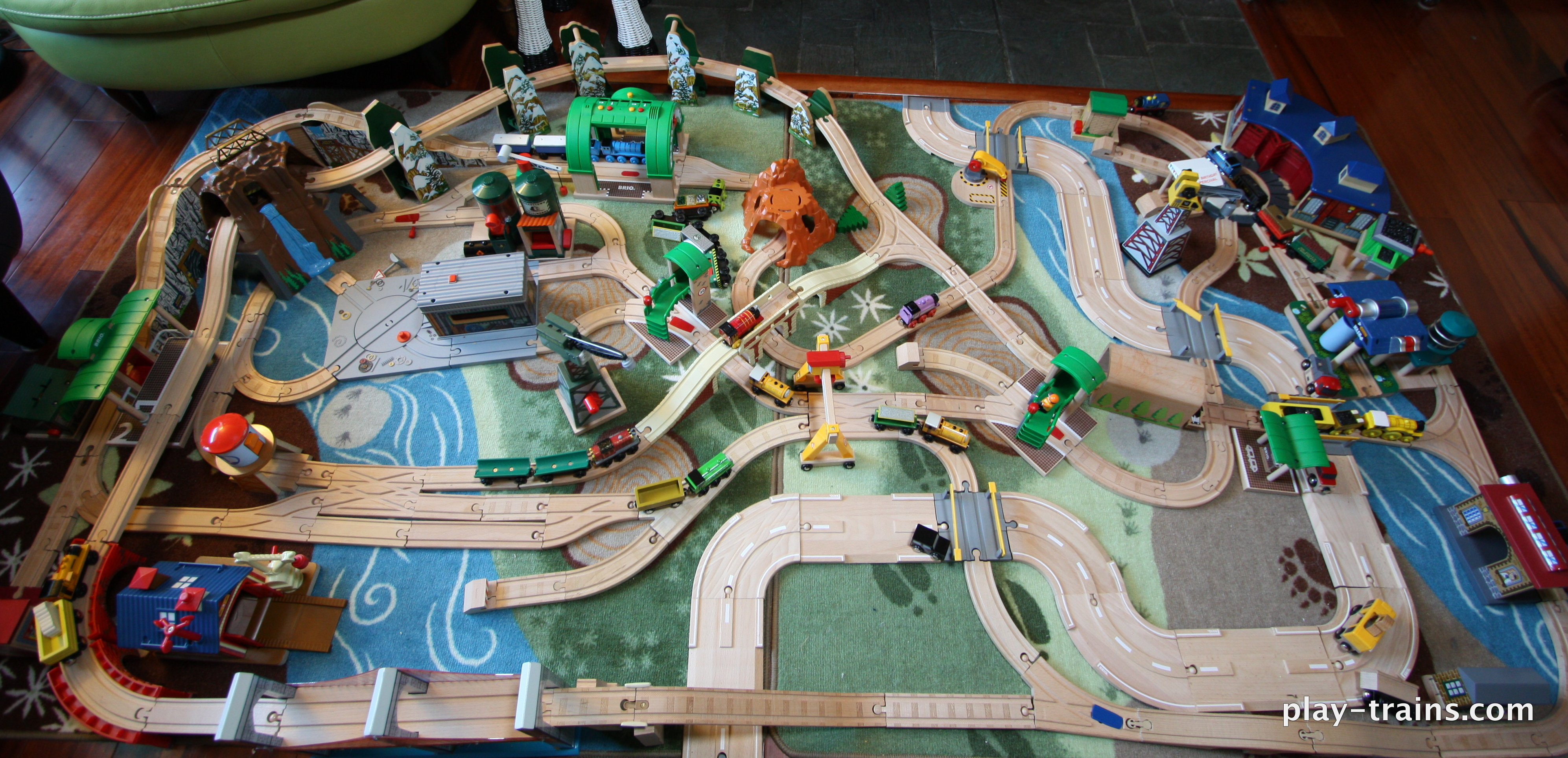 Our Latest Wooden Train Layout - Play Trains!