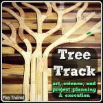 Learning About Trees with Wooden Train Tracks