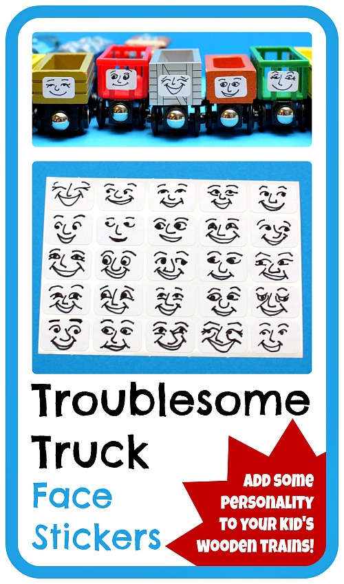 DIY removable Troublesome Truck faces for wooden trains. Any Thomas the  Tank Engine fan would
