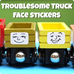 DIY Troublesome Truck Face Stickers for Wooden Trains