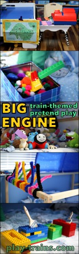 BIG ENGINE:  Train Pretend Play on a BIG Scale