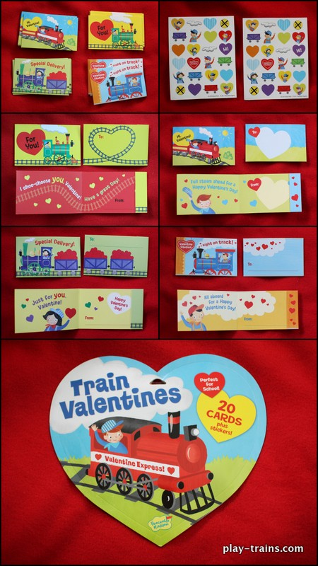 Peaceable Kingdom Train Valentines