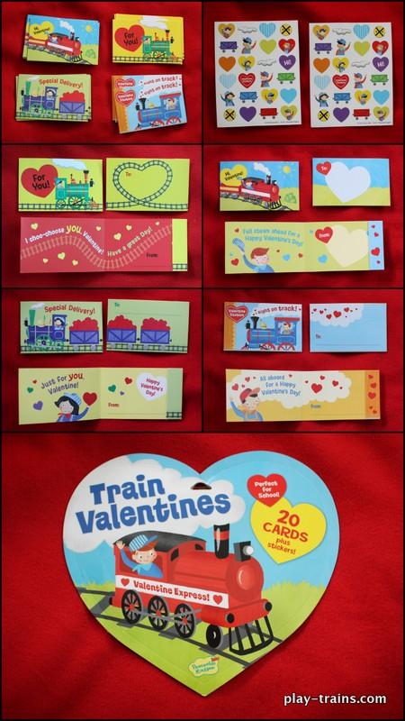 Peaceable Kingdom Train Valentines