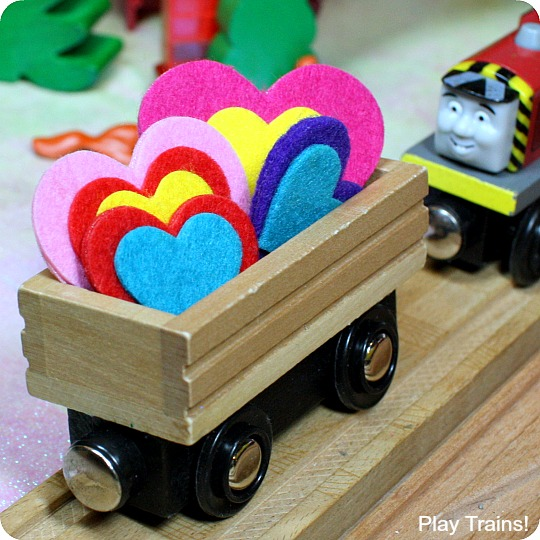 Easy DIY Valentine Freight for Wooden Trains