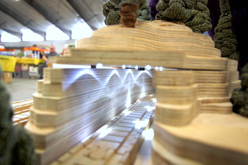 Mountain Tunnel on the wTrak Modular Wooden Train Table