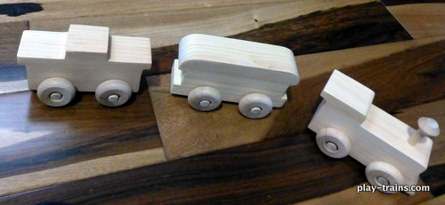 Assembling and Painting Wooden Trains with My Toddler @ Play Trains!