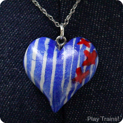 Train Gifts: DIY Engineer Stripe Heart Pendants from Play Trains!