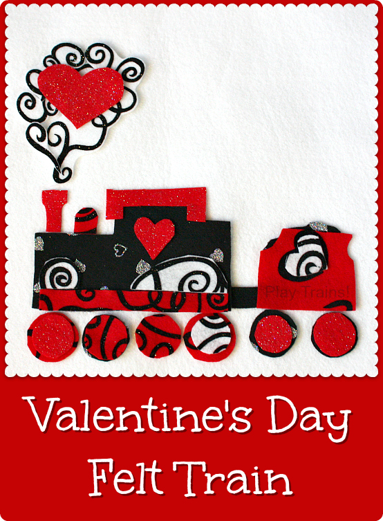 DIY Felt Valentine's Day Train Play Set from Play Trains!
