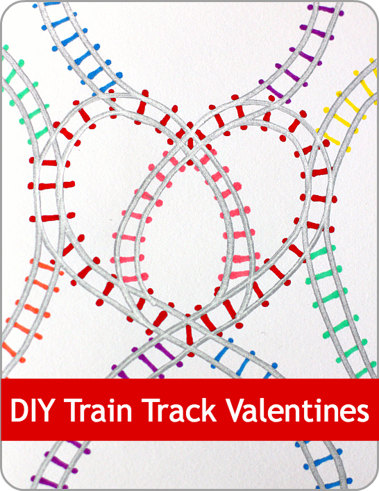 DIY Train Track Valentines from Play Trains!