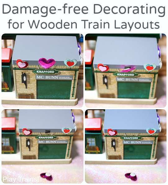 Damage-free Decorating for Wooden Train Layouts from Play Trains!
