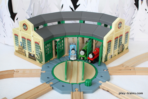 Wooden Train Roundhouses and Engine Sheds -- The Play Trains ...