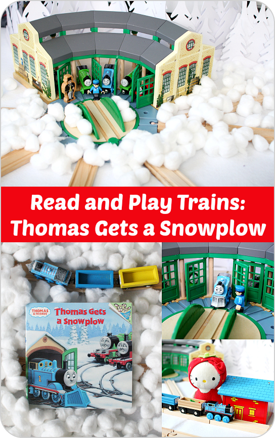Thomas Gets a Snowplow: Train Book Review and Play Ideas from Play Trains!