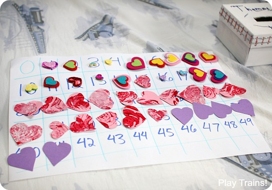 Book-inspired Valentine Counting Activity with Thomas & Friends from Play Trains!