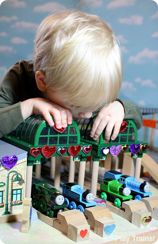 Valentine's Day in Vicarstown: a book-inspired wooden train activity from Play Trains!