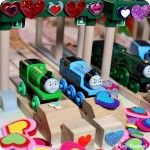 Valentine's Day in Vicarstown:  Book Review and Wooden Train Layout