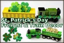 St. Patrick's Day Freight & Train Decor