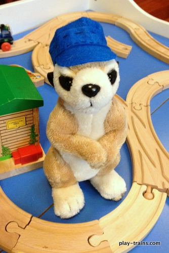 DIY Engineer Hats for Stuffed Animals @ Play Trains!  I surprised myself by coming up with a pattern for these super easy, completely adorable hats.  The Little Engineer has been THRILLED with them.  Free pattern!