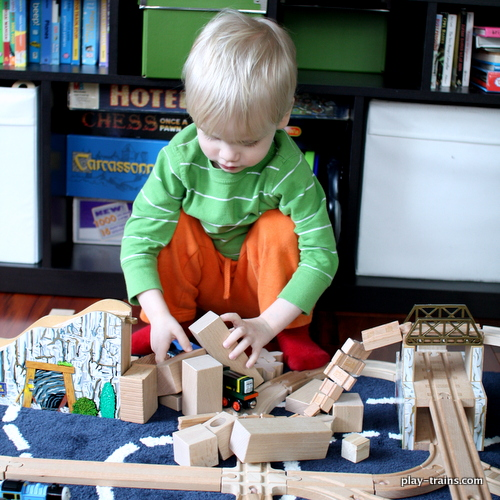 Playing Along with Blue Mountain Mystery @ Play Trains! How we limit screen time by transforming it into play, plus ideas for playing out the latest Thomas & Friends movie.