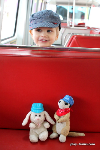 "Play Date at the Seattle Monorail @ Play Trains!  Follow the very excited Little Engineer as he meets Monorail Bunny, ""drives"" the Red Train, ""helps"" change a monorail tire, and more!"