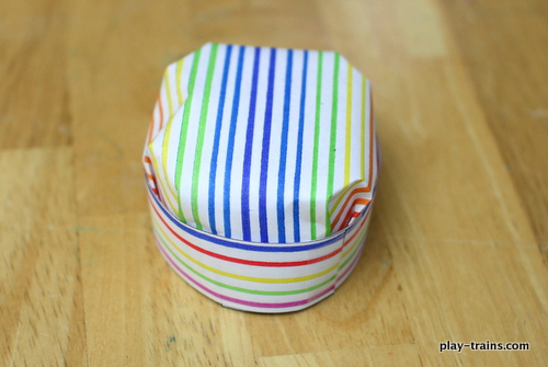 Paper Engineer's Hat Craft for Kids @ Play Trains!  A fun and easy-to-make engineer's hat that kids can help make for their favorite stuffed animals.
