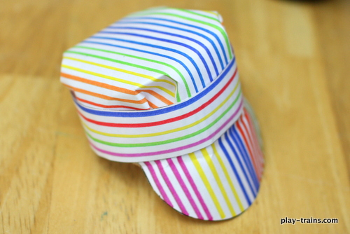 21c4730da8167 Paper Engineer s Hat Craft for Kids   Play Trains! A fun and easy-to