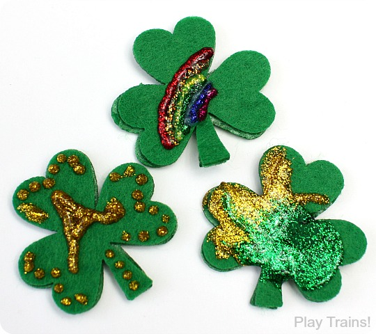 St. Patrick's Day Freight and Decorations for Wooden Trains from Play Trains!