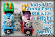 Easy DIY Bunny Ears & Easter Freight for Toy Trains @ Play Trains!