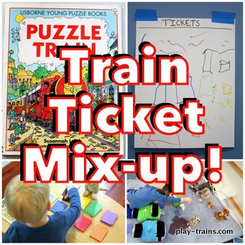 Puzzle Train Mix-up: book-inspired activity