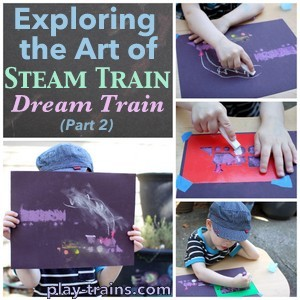 Exploring the Art of Steam Train, Dream Train with my preschooler (Part 2) @ Play Trains!