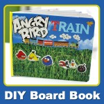 DIY Board Book: Angry Bird Train, a Kid's Favorite Things Mash-up