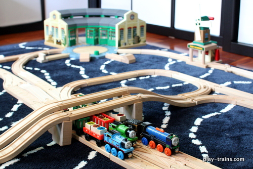 Word Family Freight Yard:  Reading Practice with Wooden Trains -- guest post from Play Trains! on Train Up a Child