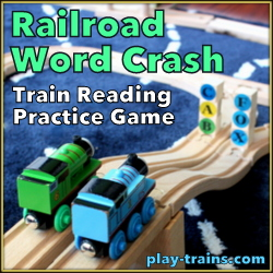 Railroad Word Crash: Train Reading Practice Game @ Play Trains!