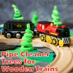 Pipe Cleaner Trees for Wooden Train Layouts