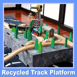 Add excitement and realism to your child's wooden train layouts with this Recycled Cardboard Box Platform for Wooden Trains @ Play Trains!