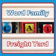 Word Family Freight Yard: Reading Practice with Wooden Trains