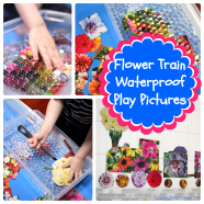 Waterproof Play Pictures: Flower Train