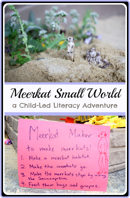 Meerkat Small World: a Child-Led Literacy Adventure | Play Trains! guest posting for Housing a Forest.