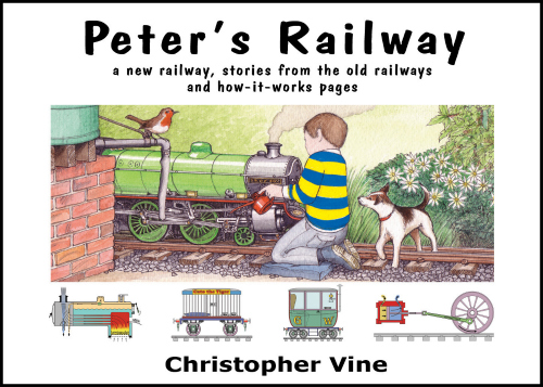 Peter's Railway, books for children who love trains. (Review and giveaway @ Play Trains!) The series tells a wonderful story about a boy and his grandpa who build and run a miniature steam railway between their houses, interspersed with technical pages explaining the science and mechanics of what Peter and Grandpa are working on. While the books are written with older children in mind, they've proven to be the best read aloud ever for my preschooler!