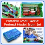 Portable Small World: Pretend Model Train Set