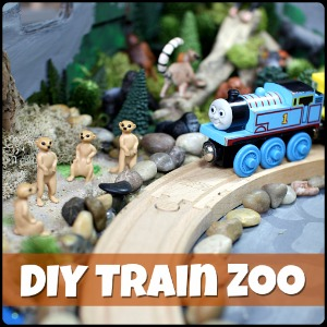 DIY Zoo Train Set for Wooden Trains