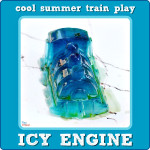 Icy Engine: Cool Summer Train Ice Play
