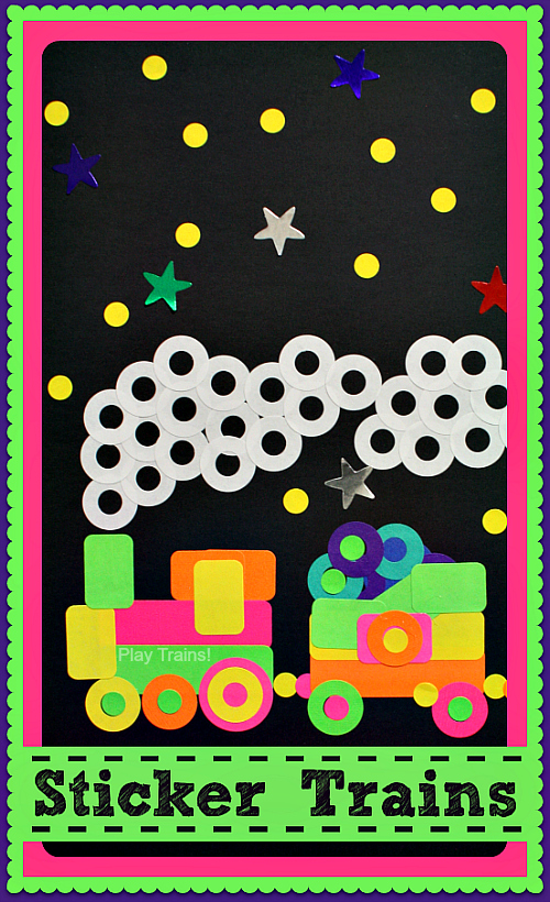 Sticker Train Craft for Kids @ Play Trains! http://play-trains.com/
