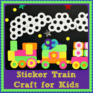 Sticker Train Craft for Kids