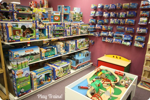 ... for a tour of our favorite toy store to play trains at in Tacoma, WA
