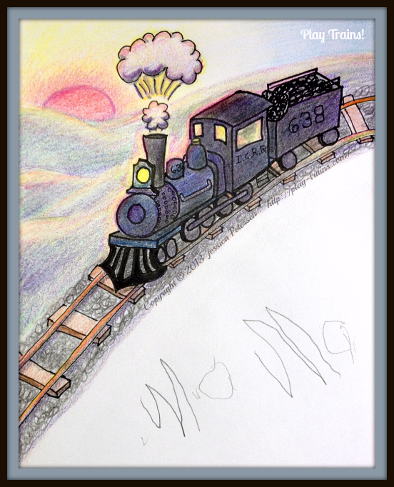 I knew I should have put my sketchbook away, but now I'm so glad I didn't. <3 @ Play Trains!