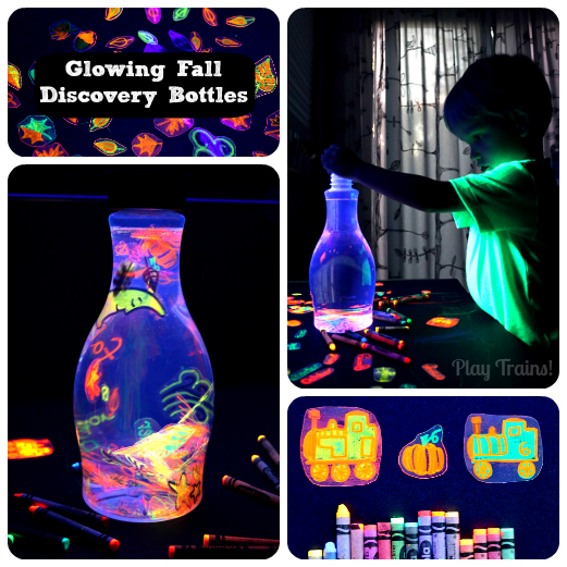 Glowing Discovery Bottles — Fall Invitations to Play