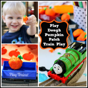 Fall Invitations to Play: Play Dough Pumpkin Patch Train from Play Trains! http://play-trains.com/