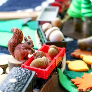 Squirrel Train Small World square
