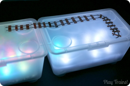 Trains and Tracks for Light Boxes and Light Tables from Play Trains!